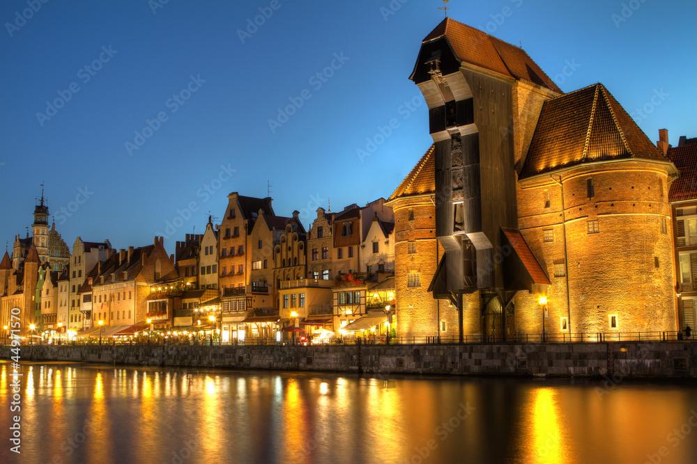 Fototapety, obrazy: Gdańsk nocą