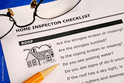 Fotografie, Obraz  Realitní kontrolní seznam domácí inspekce a zpráva o stavu
