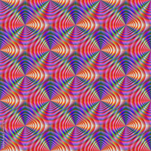 Cadres-photo bureau Psychedelique Seamless Psychedelic Pattern