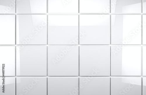 Fototapeta fondo de baldosas blancas brillantes obraz na płótnie