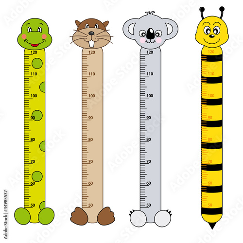 Photo Stands Height scale Medidor de pares para niños. Animales