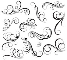 Swirly Vectors Design Elements