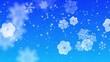 Schneeflocken und Eiskristalle