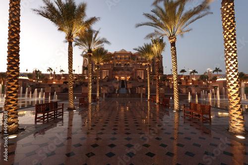 Canvas Prints Abu Dhabi The Emirates Palace in Abu Dhabi, United Arab Emirates