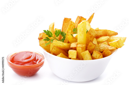 Fotografia French fries with ketchup