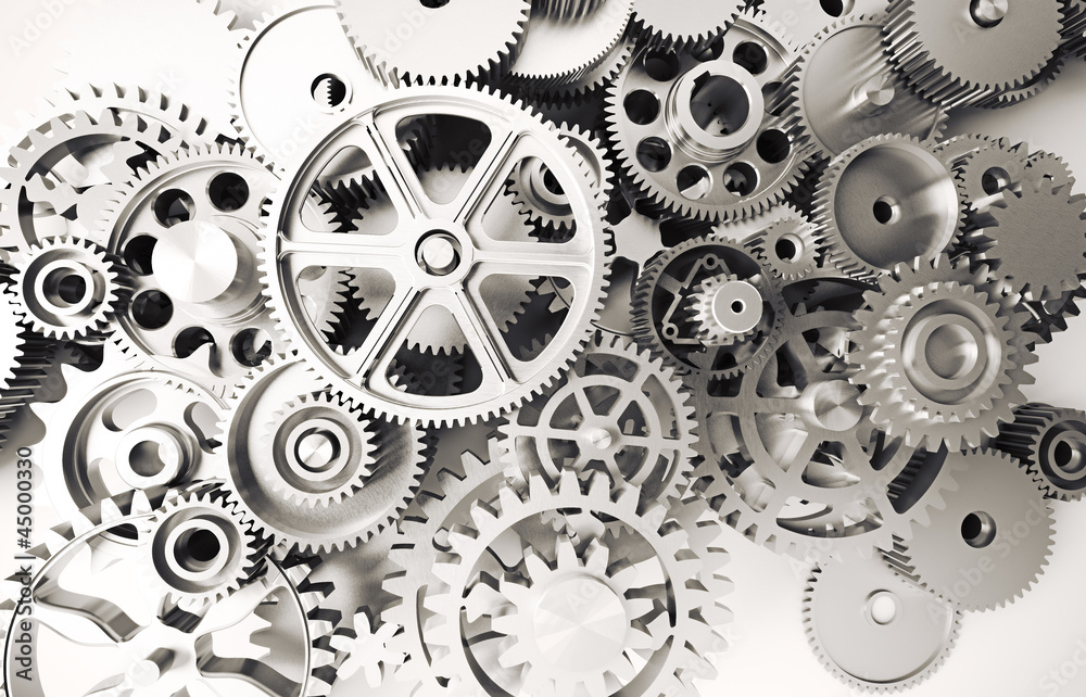 Fototapety, obrazy: old rusty gears
