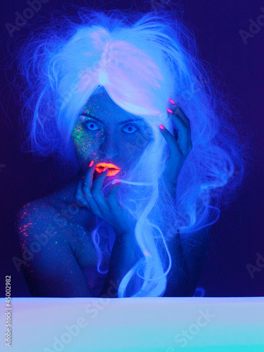 Fairy tale portrait in uv light - 45002982