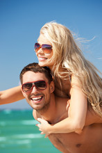 Happy Couple In Sunglasses On ...