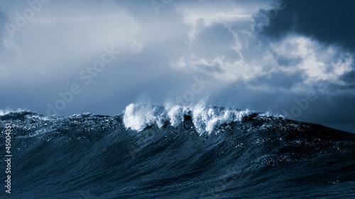Stickers pour porte Eau Big atlantic wave