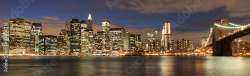 Evening´s skyline of Manhattan from Brooklyn side, New York, USA - 45006216