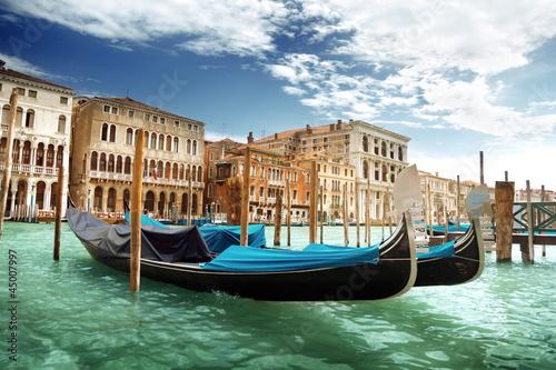 Foto-Flächenvorhang - gondolas in Venice, Italy. (von Iakov Kalinin)
