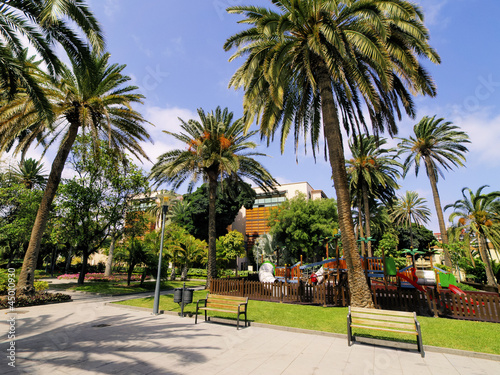 Park in Las Palmas, Gran Canaria, Canary Islands, Spain