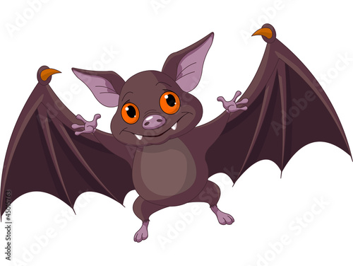 Fotografie, Obraz  Halloween  bat  flying