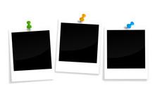 Drei Polaroids Mit Pin