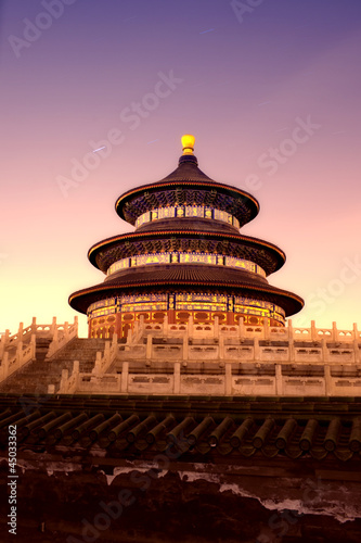 In de dag Beijing night view of beijing Temple of Heaven