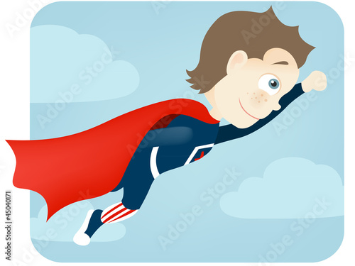 Poster Superheroes Cute Teenager