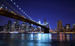 Brooklyn bridge and skyline at night