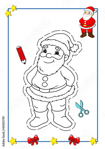 Natale Da Colorare Babbo Natale Buy This Stock Illustration And