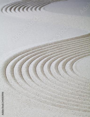 Photo courbes dans le sable fin