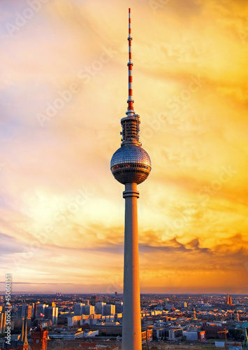 Spoed Foto op Canvas Berlijn berlin television tower