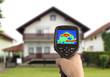 Leinwandbild Motiv Thermal Image of the House