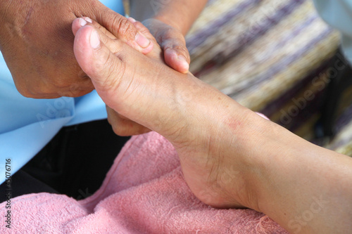 Staande foto Manicure Reflexology massage, spa foot treatment,Thailand