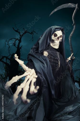 Photo  Grim reaper/ angel of death at night