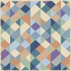 NaklejkaGeometric retro background in pastel colors