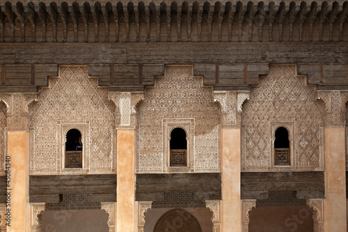 Poster Maroc Student rooms in the Medersa ben Youssef