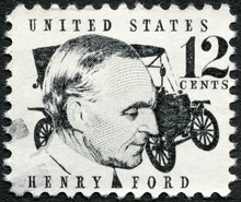 UNITED STATES OF AMERICA - 1968: Shows Henry Ford (1863-1947)