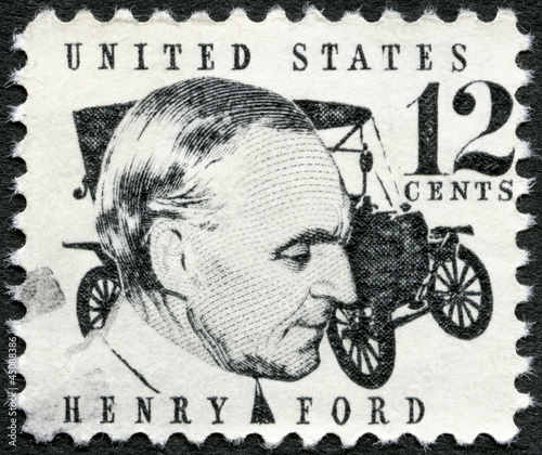 UNITED STATES OF AMERICA - 1968: shows Henry Ford (1863-1947) фототапет