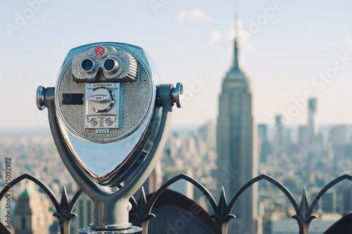 Beautiful view of downtown Manhattan from the Rockefeller Center Fototapet