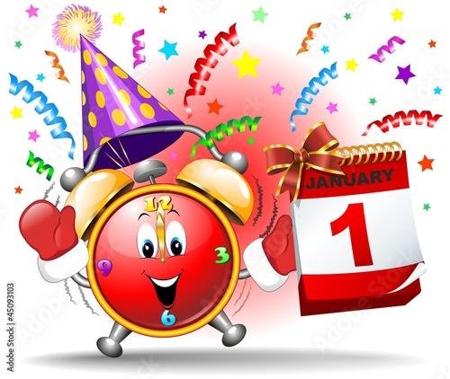 Happy New Year Cartoon 101