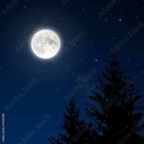 Photographie  Full moon with lens flare