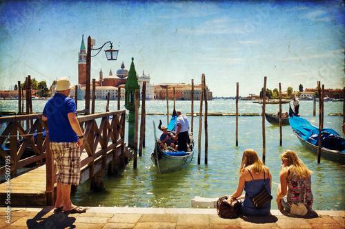 Foto op Aluminium Gondolas Venice, View of San Giorgio maggiore from San Marco