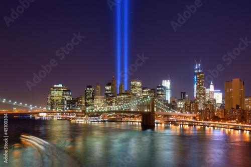 Fond de hotte en verre imprimé New York City Downtown New York City