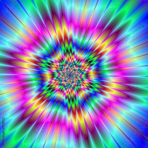 Photo Stands Psychedelic Exploding Star