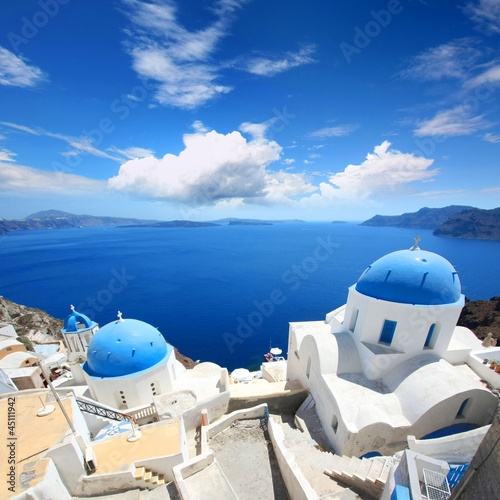 Papiers peints Santorini Santorin - Oia