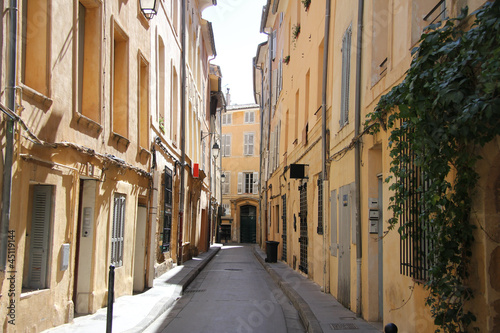 Street in Aix-en-provence Canvas Print