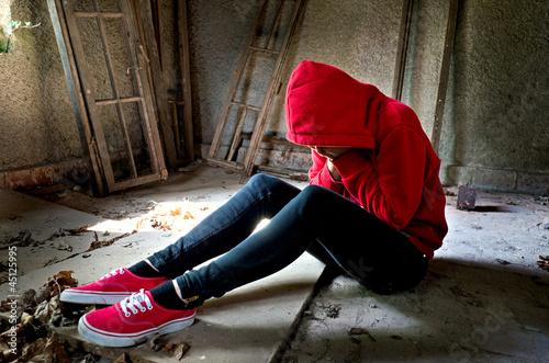 Fotografia  Teenager Verzweiflung