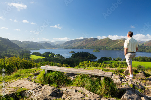 Derwent Water from Castlehead viewpoint Fototapete