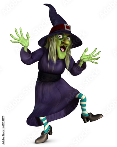 Canvas Prints Sweet Monsters crazy witch