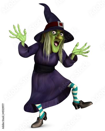 Poster de jardin Doux monstres crazy witch