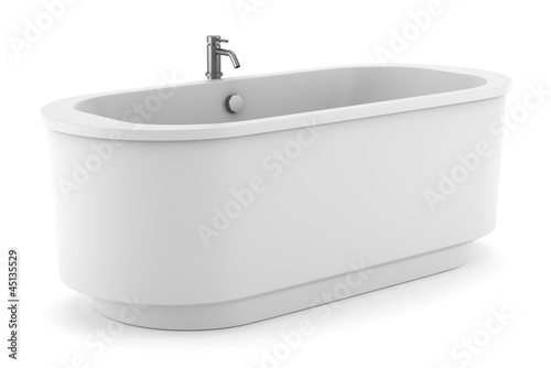 Fotomural modern bathtub isolated on white background