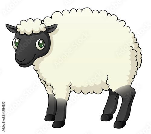 Fotobehang Boerderij Cartoon Sheep