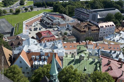 Tuinposter Noord Europa Estonia. Tallinn. Urban view