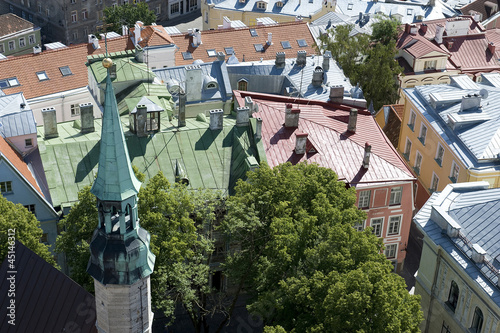 Foto op Plexiglas Noord Europa Estonia. Tallinn. View over the rooftops of the old city