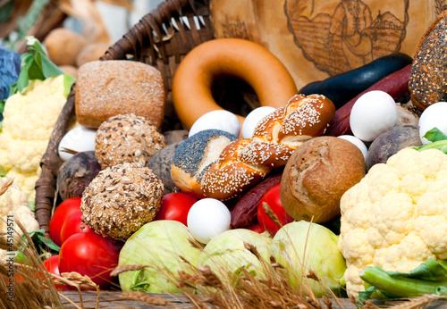 Photo Lebensmittel in einem Korb