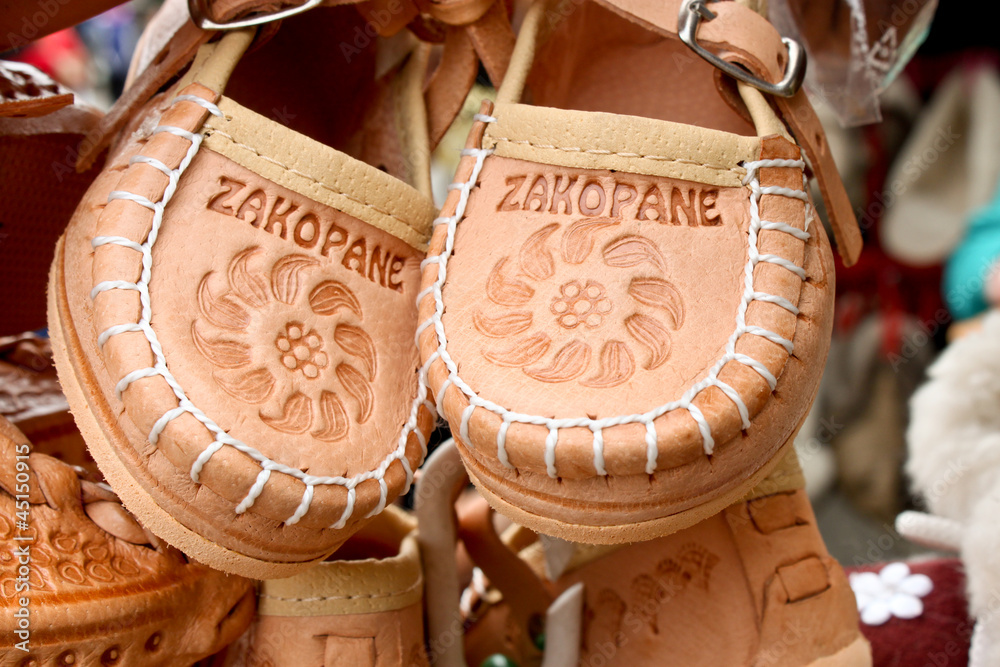 Fototapety, obrazy: souvenir leather shoes