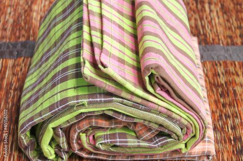 Garden Poster Oceania Texture on colorful cotton clothes